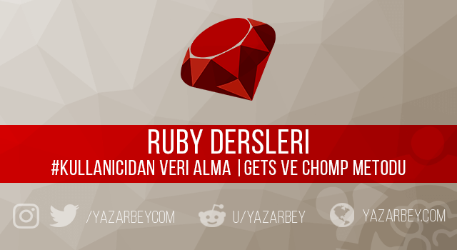 Ruby Gets ve Chomp Metodları